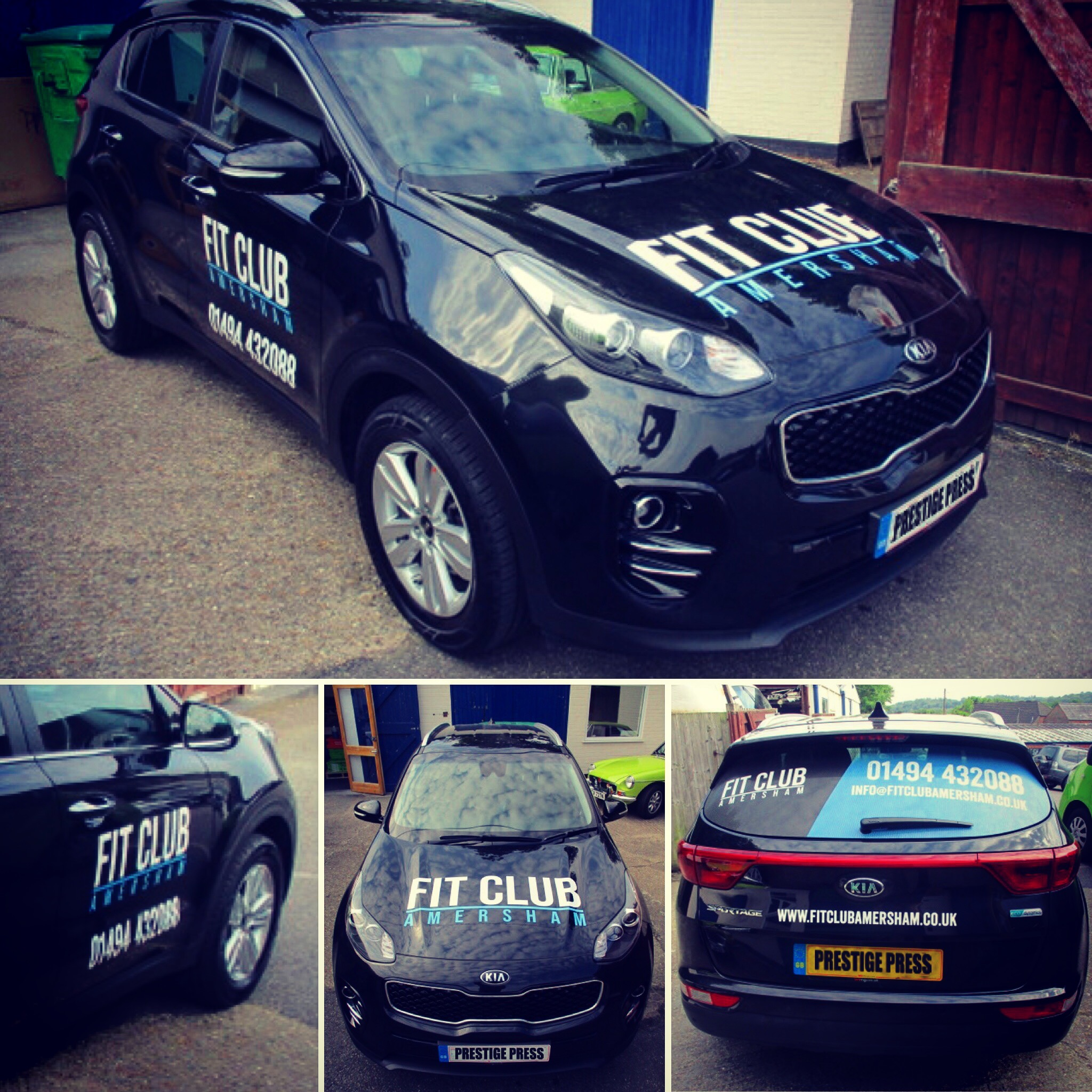 Fit Club Amersham Vinyl Wrap
